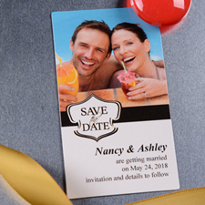 2x3.5 Banner Save the Date Photo Magnets