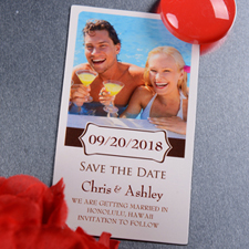 Create Bloom Save The Date Photo 2x3.5 Card Size Magnet