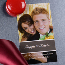 Create Perfect Pair Save The Date Photo 2x3.5 Card Size Magnet