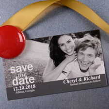 Create Picture Us Save The Date 2x3.5 Card Size Magnet