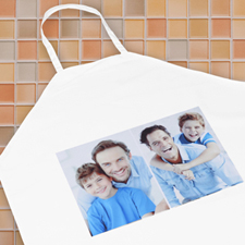 Two Collage Vertical Photo Apron, Adult