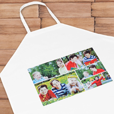 Five Collage Photo Apron, Adult