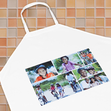 Six Collage Photo Apron, Adult