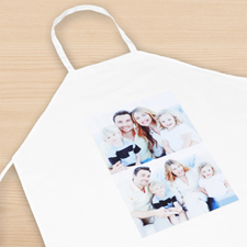 Two Collage Portrait Apron, Adult