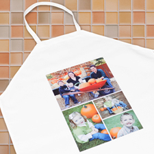 Four Collage Portrait Apron, Adult