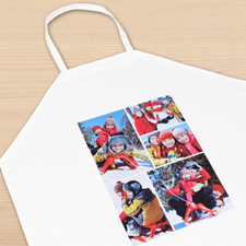 Five Collage Portrait Apron, Adult
