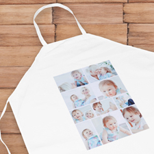 Ten Collage Portrait Apron, Adult