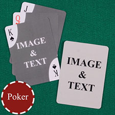 Decorative Corners Custom Front and Back Playing Cards