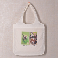 3 Collage Reusable Shopping Bag, Modern
