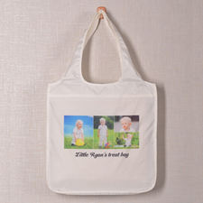 4 Collage Reusable Shopping Bag, Elegant