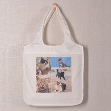 5 Collage Reusable Shopping Bag, Elegant