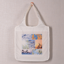 7 Collage Reusable Shopping Bag, Classic