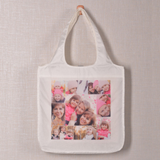 9 Collage Reusable Shopping Bag, Snapshots