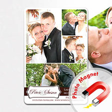 Personalized Fridge 4x6 Large My Plus One Collage Save The Date Magnet