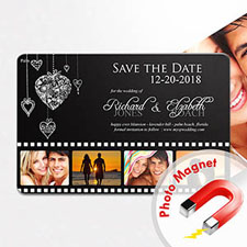 4x6 Like In Movies Save the Date Magnet