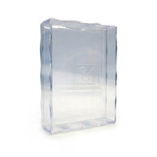 Clear plastic box for poker size playing cards