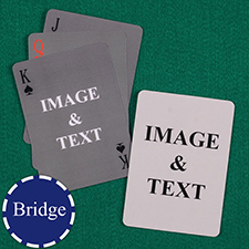 Bridge Size Custom Front and Back Playing Cards, Simple