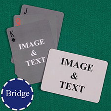 Bridge Size Custom Front and Back Playing Cards, Simple Landscape