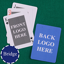 Bridge Size Custom Front and Back Playing Cards, Classic