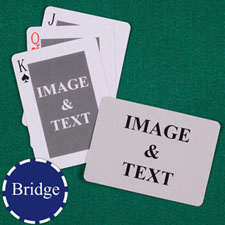 Bridge Size Custom Front and Back Playing Cards, Classic Landscape