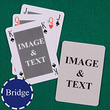 Bridge Size Custom Front and Back Playing Cards, Bridge Style