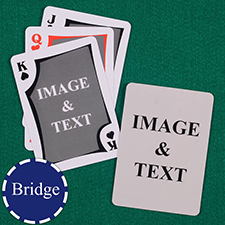 Bridge Size Custom Front and Back Playing Cards, Modern