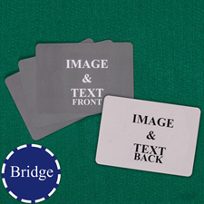Bridge Size Landscape Custom Cards (Blank Cards)