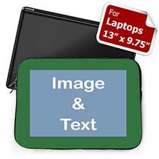 Custom Laptop Sleeve – Medium, Green Border