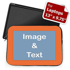 Custom Laptop Sleeve – Medium, Orange Border