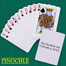 Custom Pinochle Background Color & Text