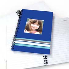 Colorful Stripes Notebook, Blue