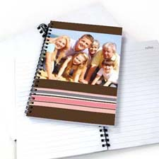 Colorful Stripes Notebook, Chocolate