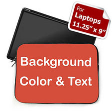Plain Red Background Custom Text Laptop Sleeve, Small