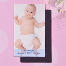 Baby Boy Personalized Photo 2x3.5 Card Size Magnet