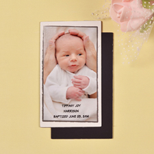 DIY Plain White Portrait 2x3.5 Card Size Magnet