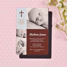 Personalized 4x6 Large Fashion Baby Boy Baptism Photo Fridge Magnets