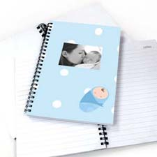 Polka Dots Boy Birth NoteBook