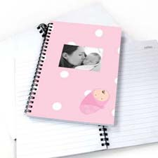 Polka Dots Girl Birth NoteBook