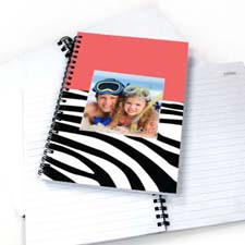 Hot Pink Zebra Pattern Photo NoteBook