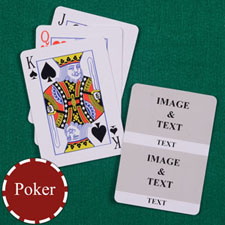 Two White Collage Custom Back Playing Cards