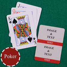 Two Red Collage Custom Back Playing Cards