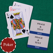 Two Navy Collage Custom Back Playing cards