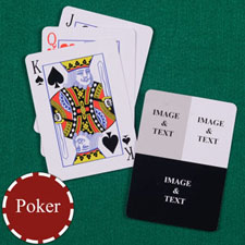 Three Collage Custom Back Playing Cards