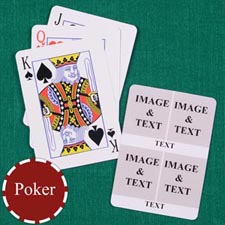 Four White Collage Custom Back Playing Cards