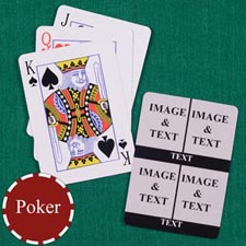 Four Black Collage Custom Back Playing Cards