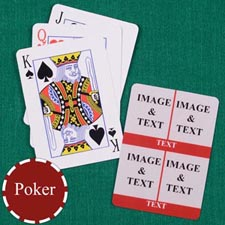 Four Red Collage Custom Back Playing Cards