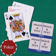 Four Navy Collage Custom Back Playing cards