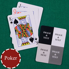 Four Collage Custom Back Playing Cards