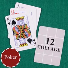 Twelve Collage Custom Back Playing Cards