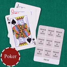 Nine White Collage Custom Back Playing Cards